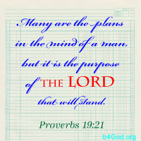 Many are the plans of man, but... ~ from Me & My House